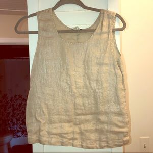 Shimmery gold/cream tank! Dressy/business Casual!